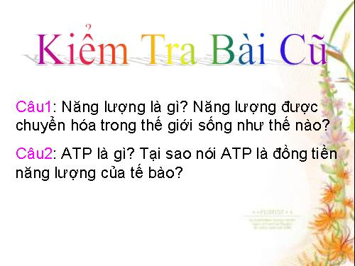 Tại sao nói ATP là đồng tiền năng lượng của tế bào